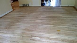 sanded front room